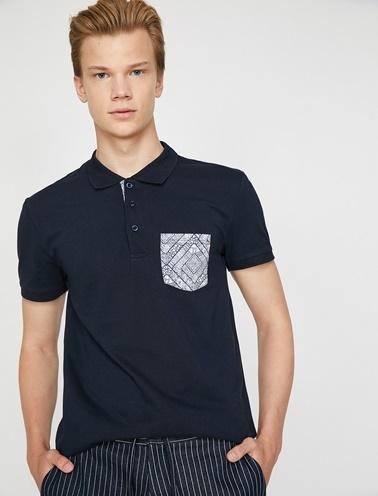 Koton Polo Yaka T-Shirt Lacivert